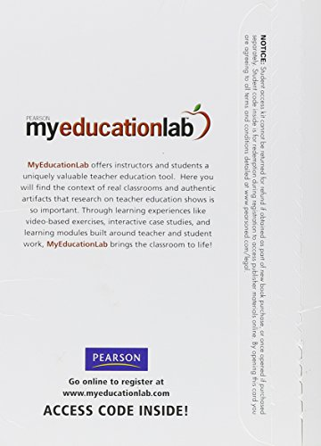 MyEducationLab Student Access Code Card: Madan Dr Pearson