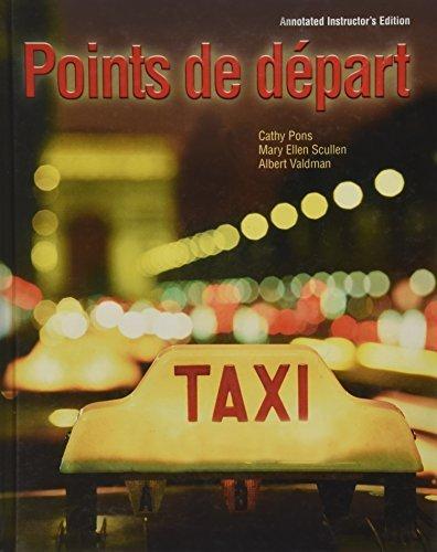 9780135141120: Points de Depart