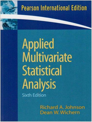 9780135143506: Applied Multivariate Statistical Analysis: International Edition