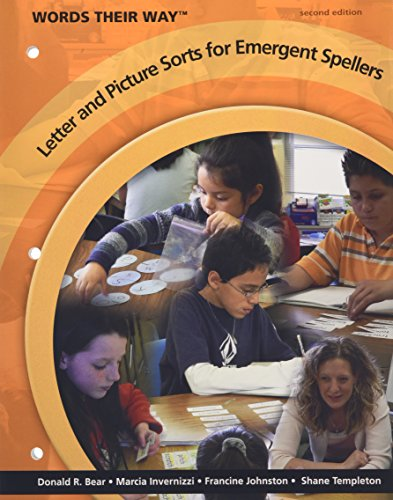 9780135145791: Words Their Way Letter and Picture Sorts for Emergent Spellers (2nd Edition)