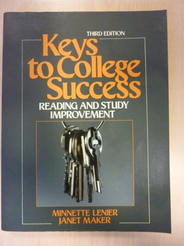 9780135148112: Keys to College Success: Reading and Study Improvement