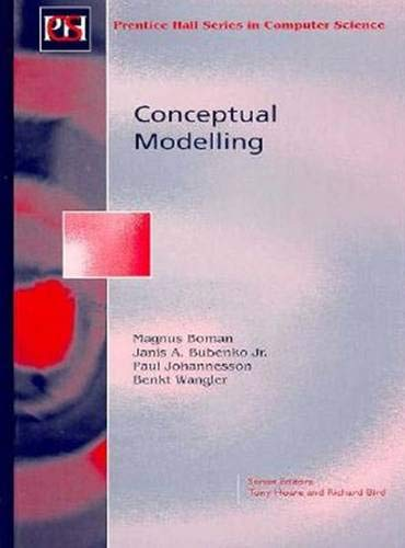 9780135148792: Conceptual Modelling (Prentice-Hall International Series in Computer Science)