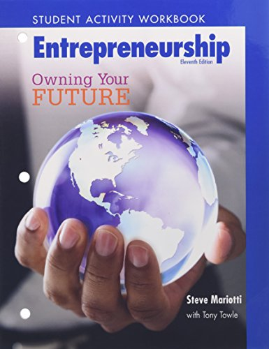 9780135150009: Student Activity Workbook for Entrepreneurship: Owning Your Future (High School Workbook)