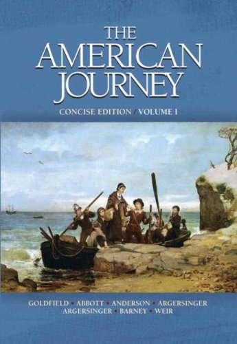 9780135150870: The American Journey-Concise Edition, Volume 1