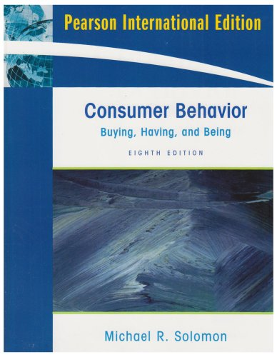 9780135153369: Consumer Behavior : Buying, Having, and Being (International Edition)