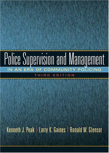 9780135154663: Police Supervision and Management (Pearson Criminal Justice)