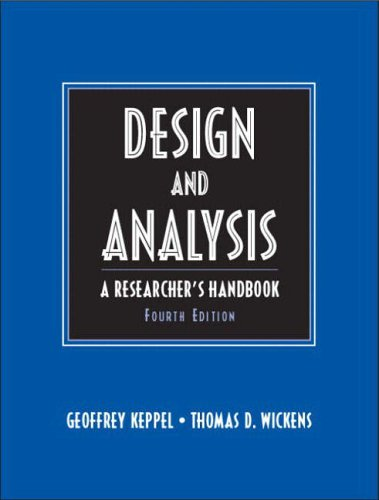 9780135159415: Design & Analysis: A Researcher's Handbook