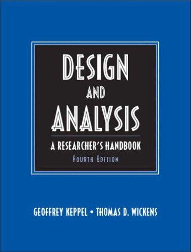 9780135159415: Design & Analysis: A Researcher's Handbook