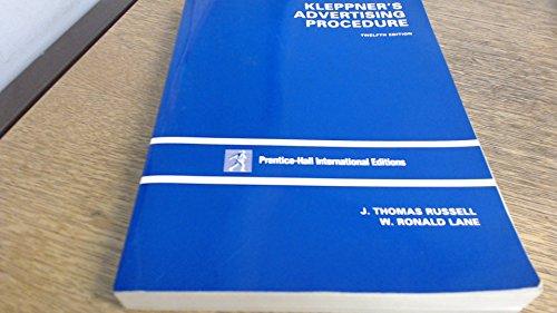 9780136110828 kleppners advertising procedure 18th edition 9780135186718 kleppners advertising procedure fandeluxe Choice Image