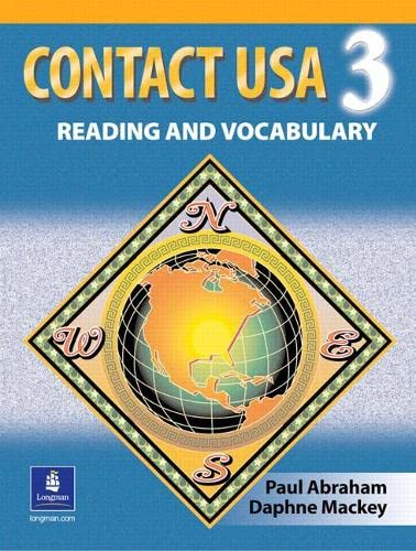 Contact Usa 9780135187548 Contact USA 3 (formerly Contact USA) presents readings that offer cross-cultural perspectives and generate class discussion on topics such as cities, food, culture shock, retirement, equality, racial issues, taxes, and freedom of religion. Problem-solving and discussion exercises address the unique needs of students who can read and comprehend more English than they can actively produce.