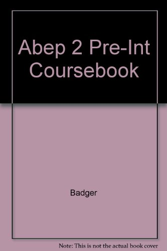 Abep 2 Pre-Int Coursebook: Badger