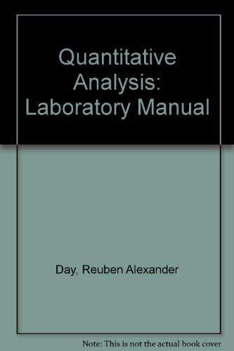 Quantitative Analysis: Underwood, Arthur L.,
