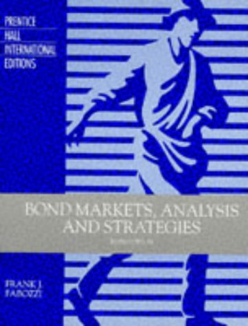 9780135203705: Bond Markets: Analysis and Strategies