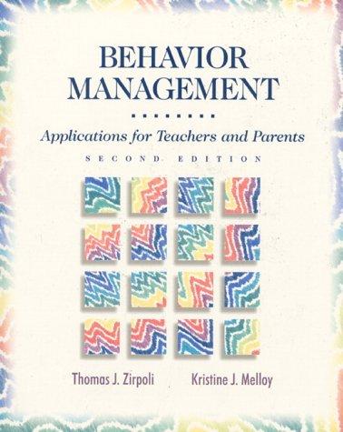 9780135205372: Behavior Management Appl Teachers Parent: Applications for Teachers and Parents