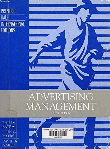 9780135209172: Advertising Management (Prentice Hall international editions)