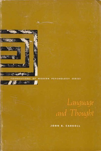 9780135227060: Language and Thought (Foundations of Modern Psychology)