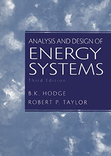 9780135259733: Analysis and Design of Energy Systems (3rd Edition)