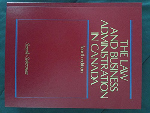 Law and Business Administration in Canada: Smyth, J.