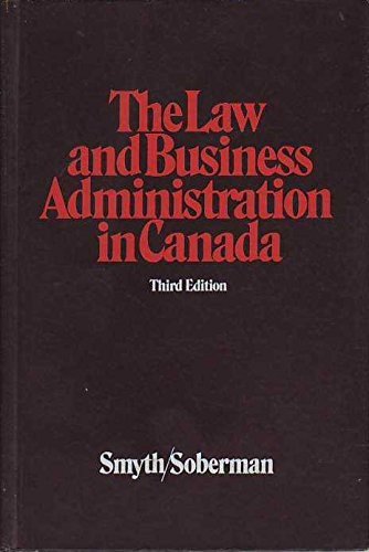 9780135263198: Law and Business Administration in Canada