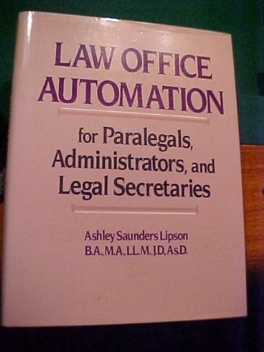 9780135265833: Law Office Automation for Paralegals, Administrators, and Legal Secretaries