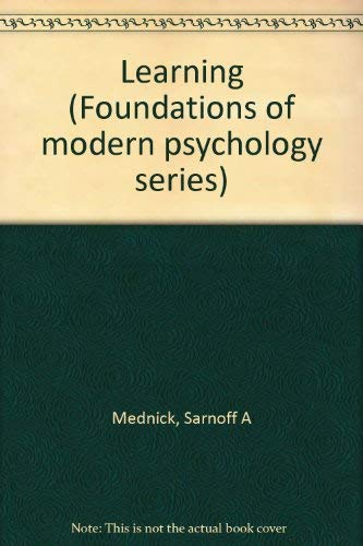 9780135271018: Learning (Foundations of Modern Psychology)