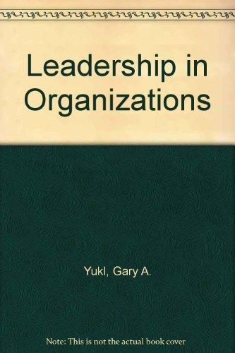 9780135271766: Leadership in Organizations
