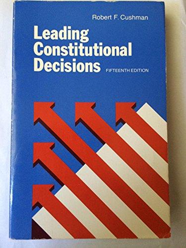 9780135273586: Leading Constitutional Decisions