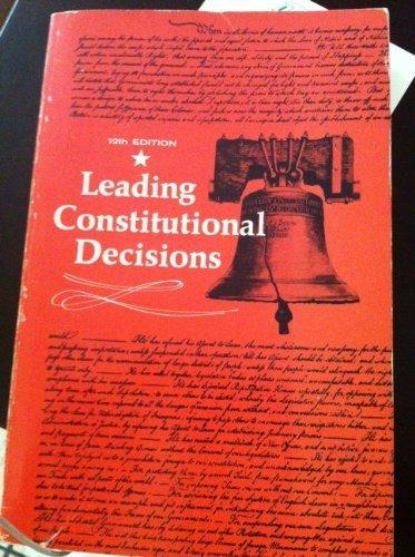 9780135273678: Leading constitutional decisions