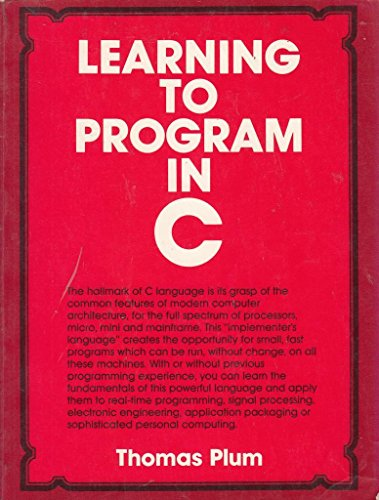 9780135278475: Learning to Program in C