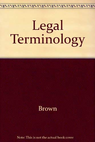 9780135284070: Legal Terminology