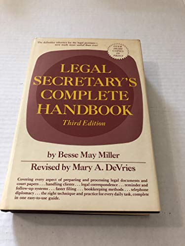 9780135285626: Legal Secretary's Complete Handbook