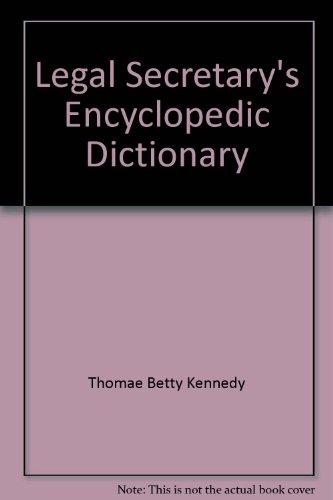 9780135289433: Legal secretary's encyclopedic dictionary
