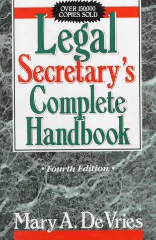 9780135298763: Legal Secretary's Complete Handbook, Fourth Edition