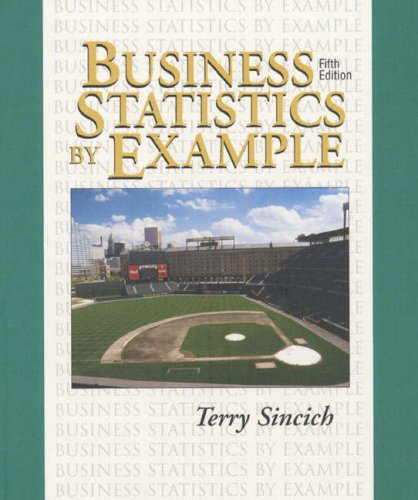 9780135316177: Business Statistics by Example and Computer Software Tutorials