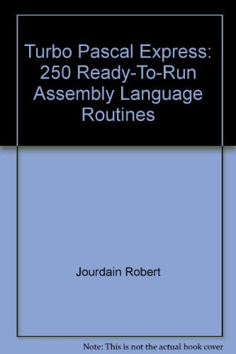 9780135353370: Turbo Pascal Express: 250 Ready-To-Run Assembly Language Routines