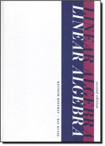 9780135367971: Linear Algebra (2nd Edition)