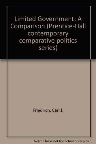 9780135371671: Limited Government: A Comparison (Prentice-Hall contemporary comparative politics series)