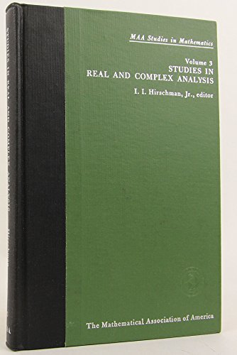 9780135413265: Studies in Real and Complex Analysis.