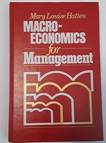 9780135424988: Macroeconomics for Management