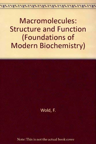 9780135426135: Macromolecules: Structure and Function