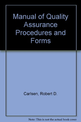 9780135444047: Manual of Quality Assurance Procedures and Forms