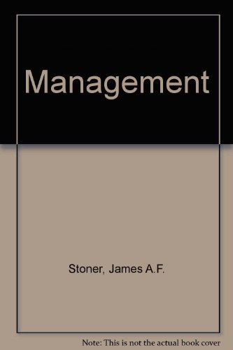 James a f stoner r edward freeman abebooks management stoner james a fandeluxe Choice Image