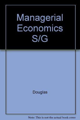 9780135449172: Managerial Economics S/G
