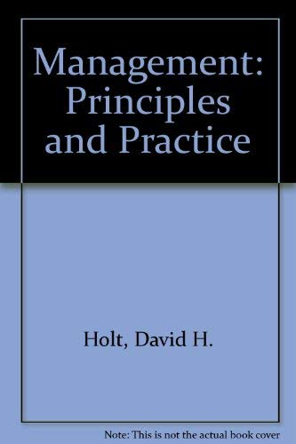9780135482070: Management: Principles and Practice