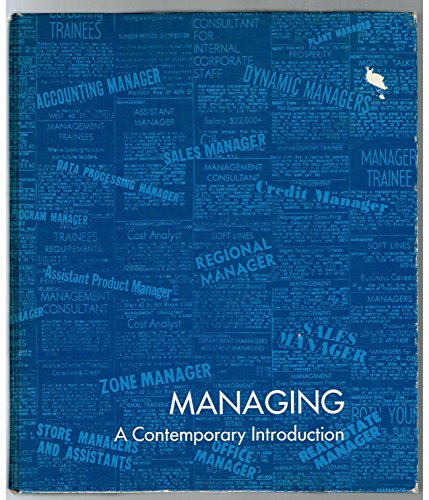 9780135483541: Managing: A Contemporary Introduction