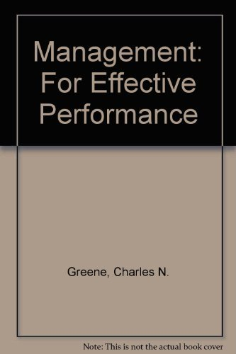 9780135485040: Management: For Effective Performance
