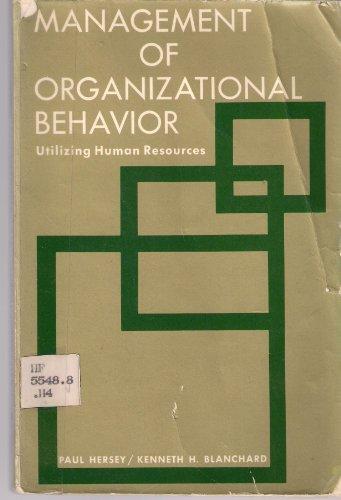 9780135486443: Management of Organizational Behavior: Utilizing Human Resources