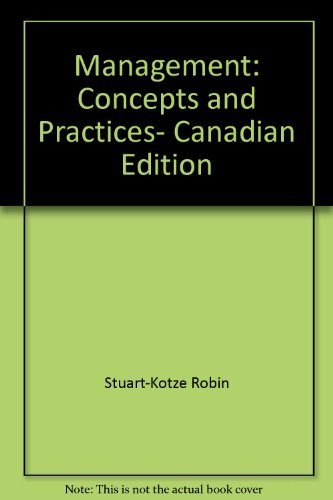 9780135489598: Management: Concepts and Practices, Canadian Edition