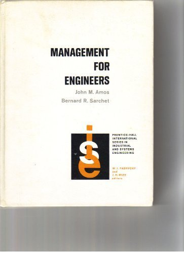 9780135494028: Management for Engineers (Prentice-hall International Series in Industrial & Systems Engineering)
