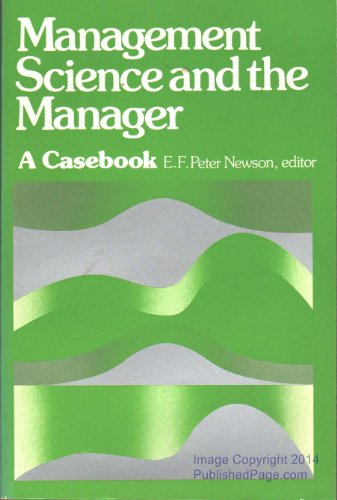 9780135494448: Management Science and the Manager: A Casebook